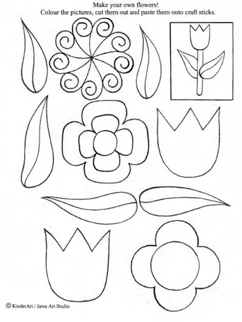 Make Your Own Flowers Printable Craft