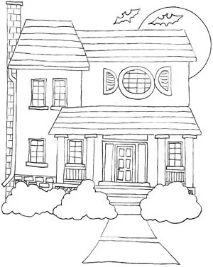 coloring pages of houses # 78