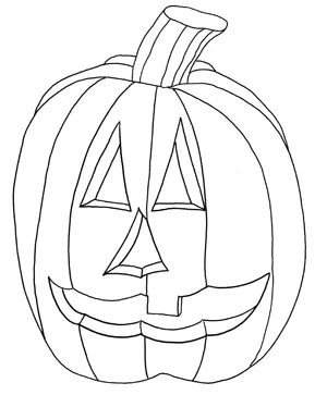 Jack-O-Lantern Printable Coloring Page for Kids and Adults