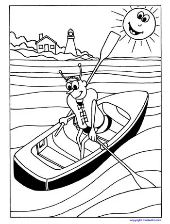Lifejacket Coloring Page (Safety Bee)