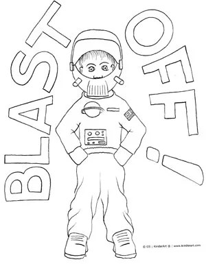 Space Costume Coloring Page