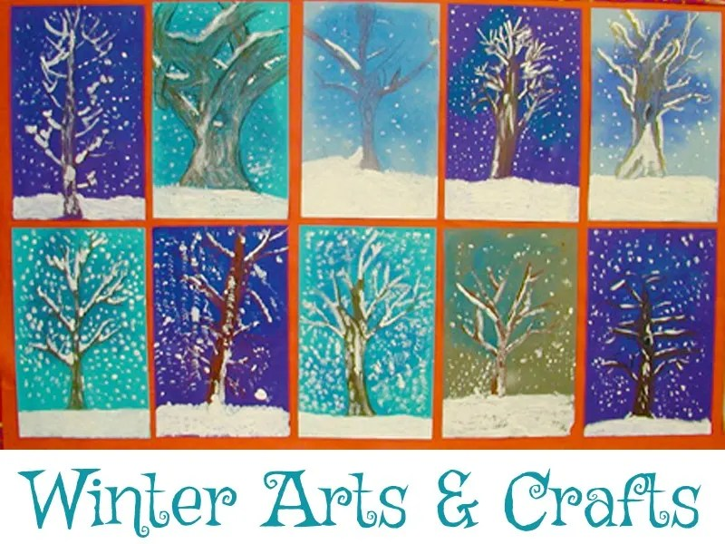 Holiday Crafts From KinderArt Seasonal Arts And Crafts