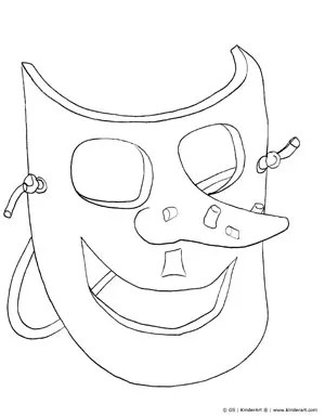 Witch Mask Coloring Page