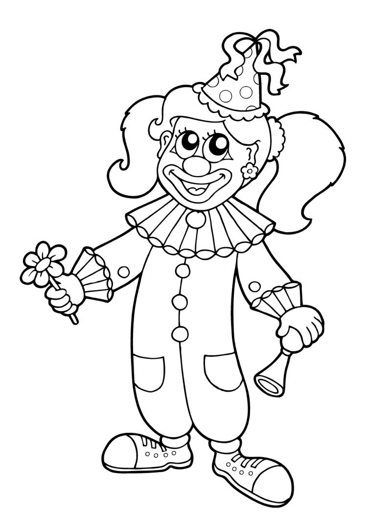 Malvorlage Clown - kinderbilderdownload kinderbilder