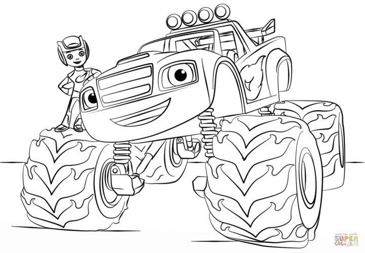 Ausmalbild Blaze Monster Truck Ausmalbilder Kostenlos