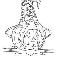 Ausmalbild Halloween Gehorntes Monster Kostenlos ...