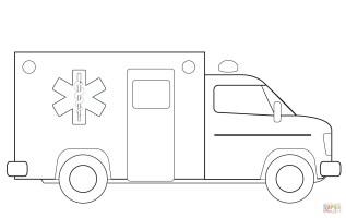 Krankenwagen Ausmalbild   kinderbilder.download ...