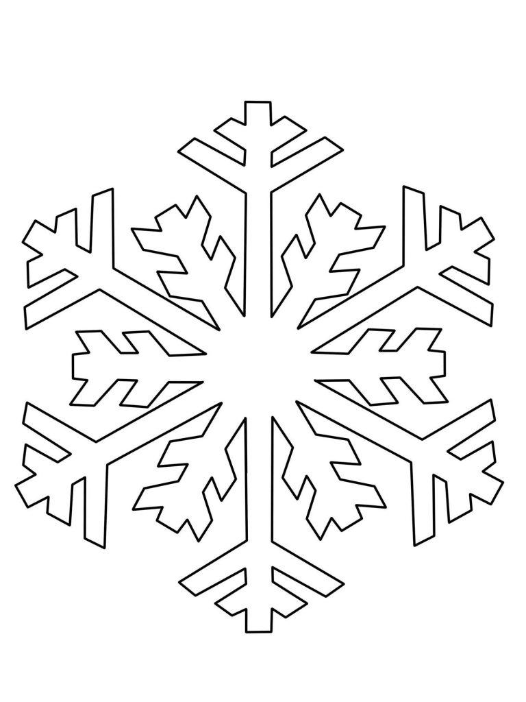 Ausmalbild Schneeflocken Und Sterne Schneeflocke Ausmalen