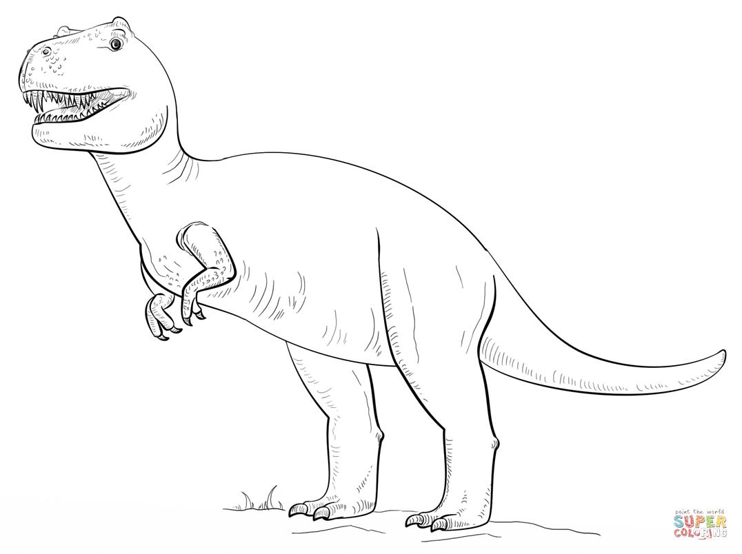 T Rex Ausmalbild - kinderbilderdownload kinderbilder