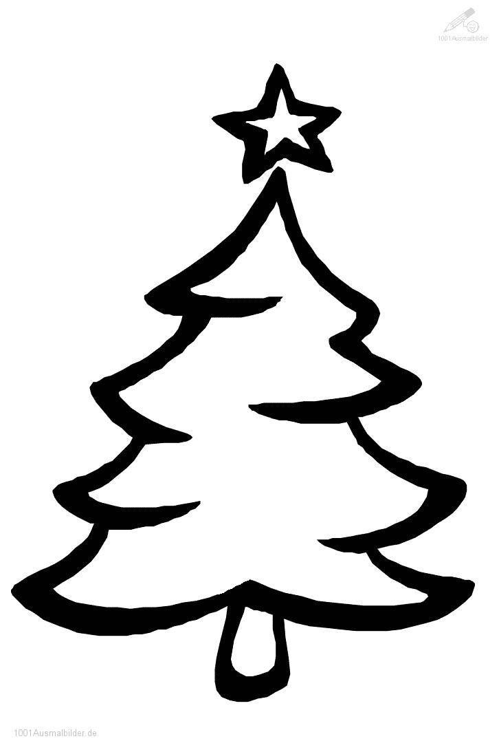 Ausmalbild-Weihnachtsbaum-23 726×1093 Pixel in Malvorlage