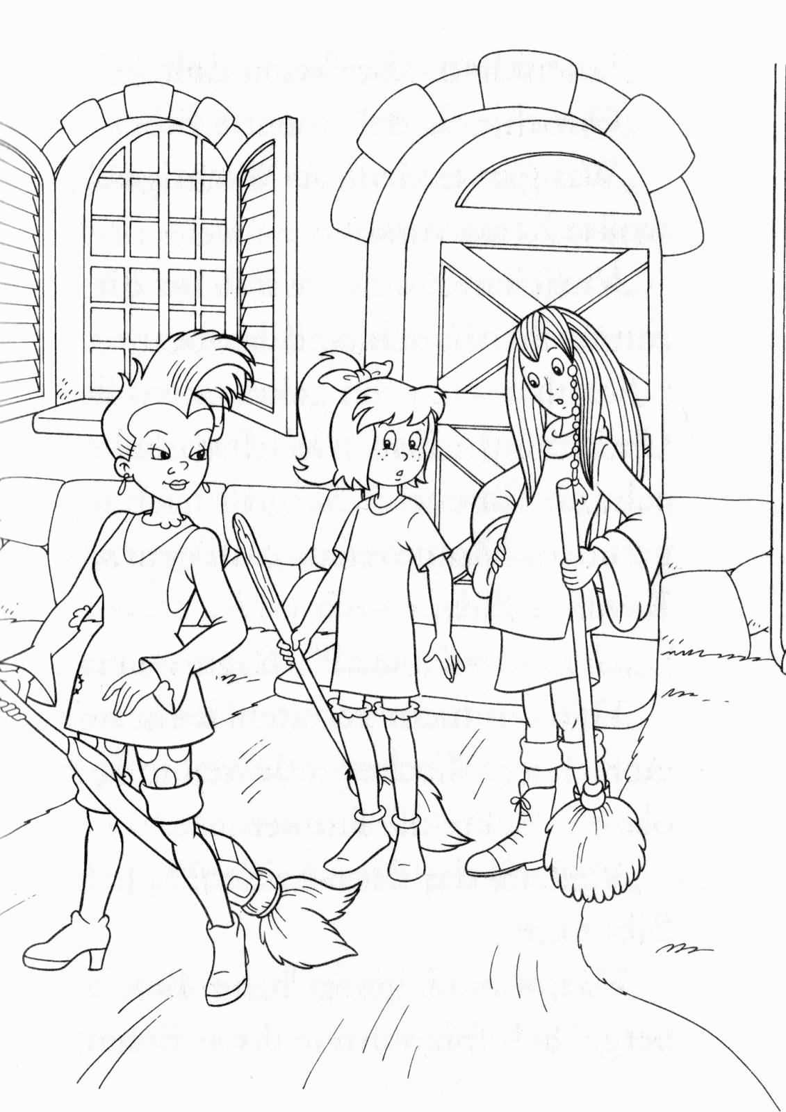 Bibi Und Tina Malvorlage - kinderbilderdownload