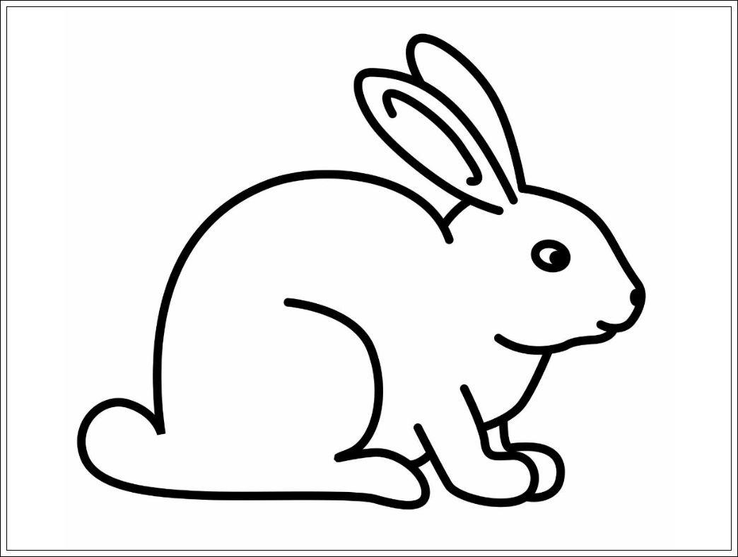 Malvorlage Hase Einfach - kinderbilderdownload