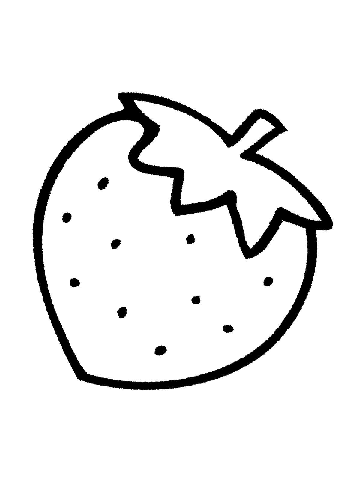 Malvorlage Erdbeere - kinderbilderdownload kinderbilder