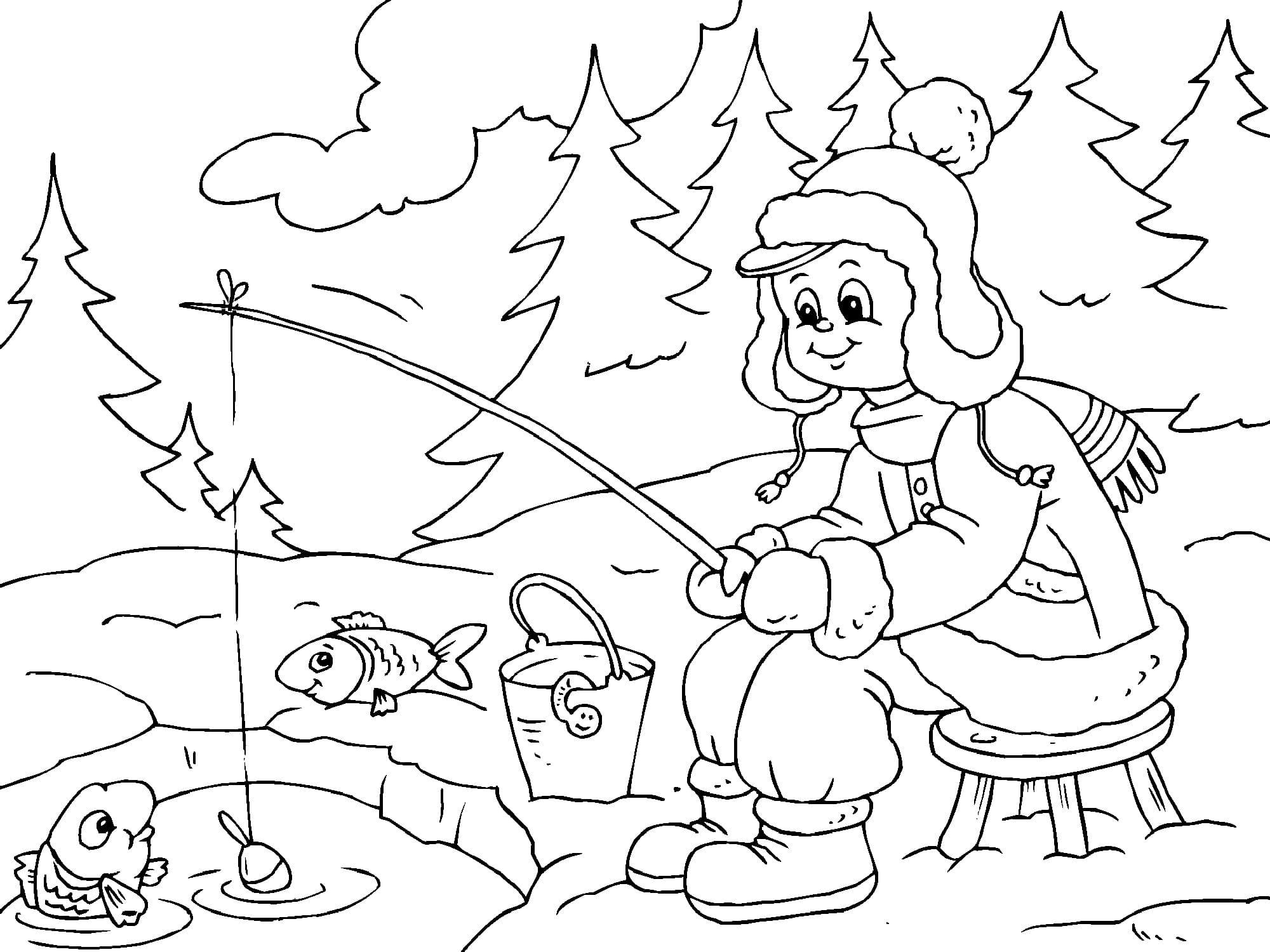 Ausmalbild Winter - kinderbilderdownload kinderbilder