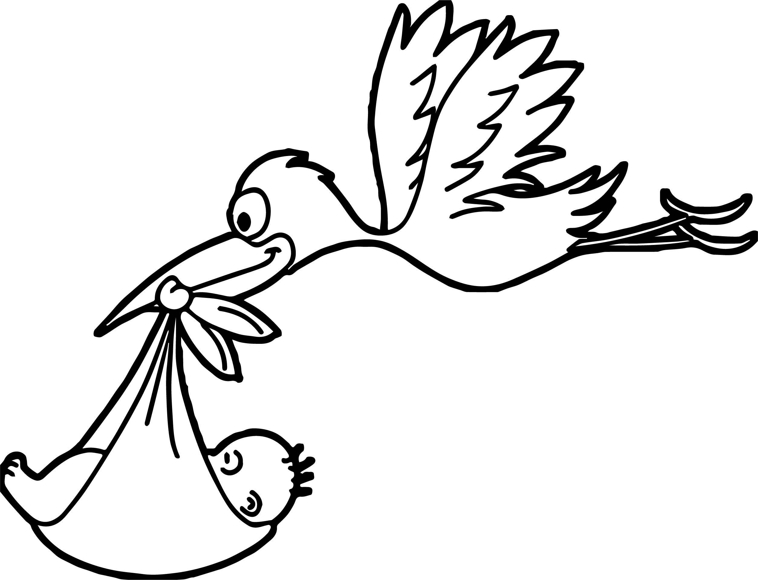 Storch Zum Ausmalen - kinderbilderdownload kinderbilder