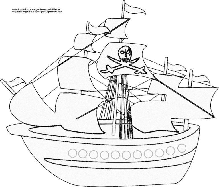 Malvorlage Piratenschiff - kinderbilderdownload