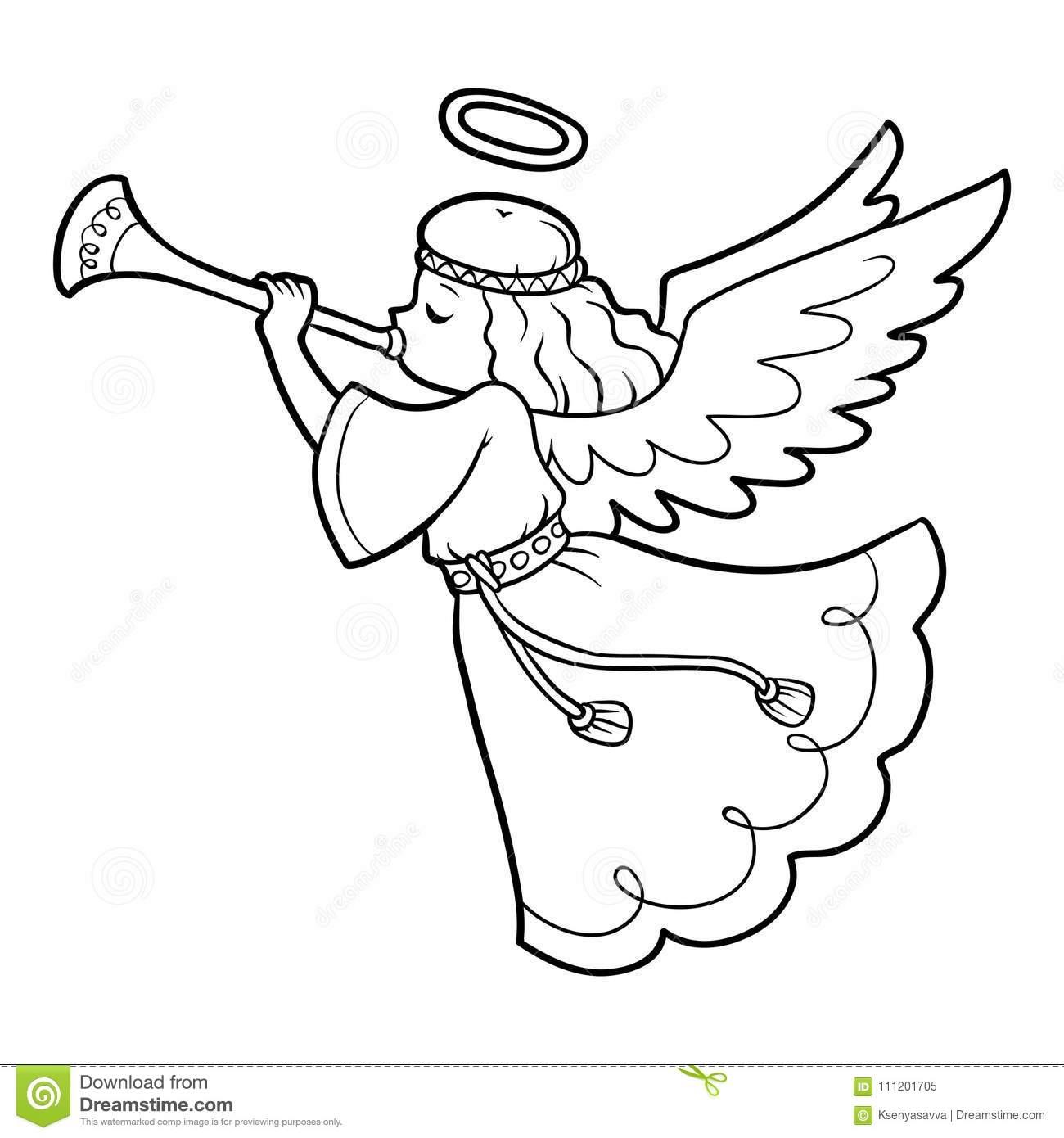Malvorlage Engel