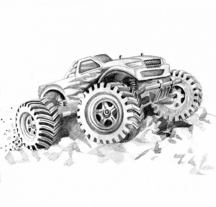 Kostenlose Druckbare Monster Truck Malvorlagen Für Kinder