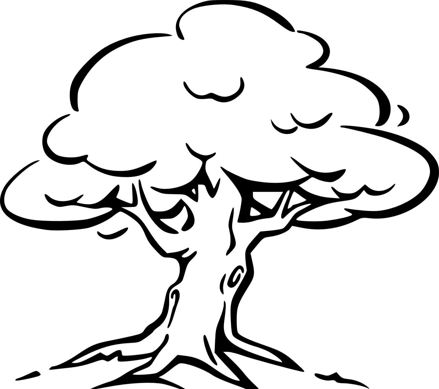 Malvorlage Baum Mit Ästen - kinderbilderdownload
