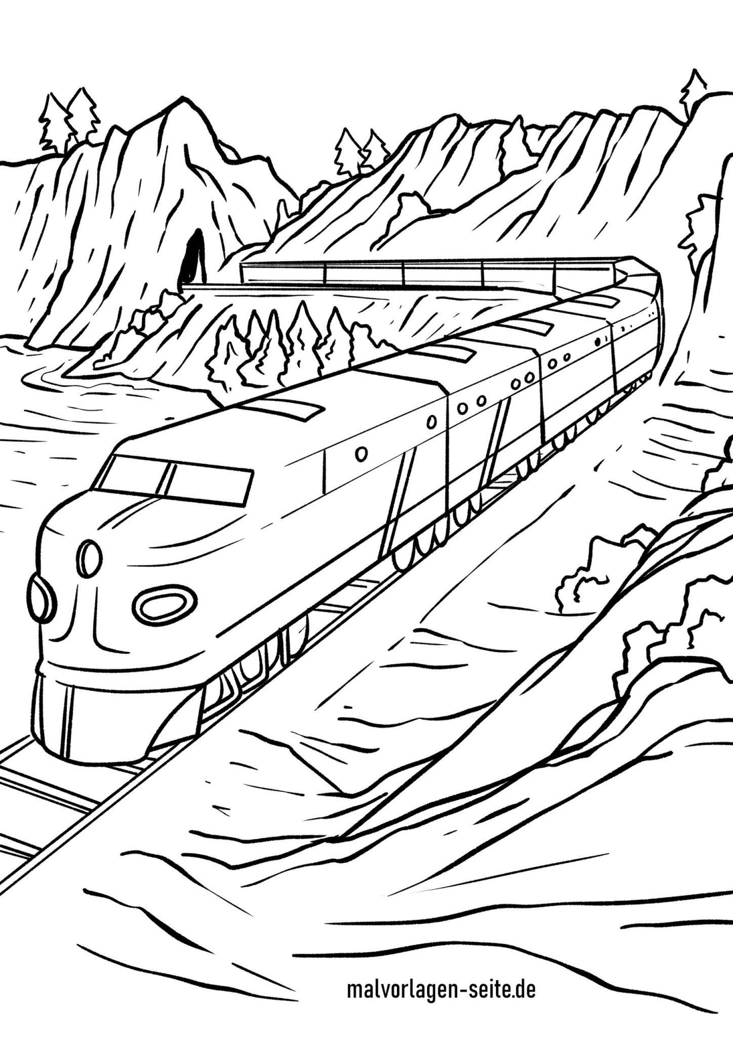 Malvorlage Eisenbahn - Ausmalbilder Kostenlos