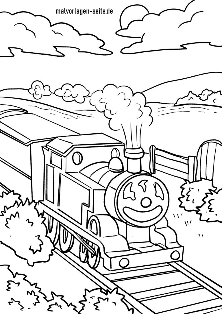 Malvorlage Eisenbahn - kinderbilderdownload