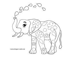Zeichnungen Vorlagen Elefanten   kinderbilder.download ...