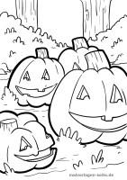 Malvorlage Halloween Kürbis   Feiertage   Ausmalbilder mit ...