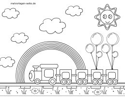 Malvorlagen Eisenbahn   kinderbilder.download ...