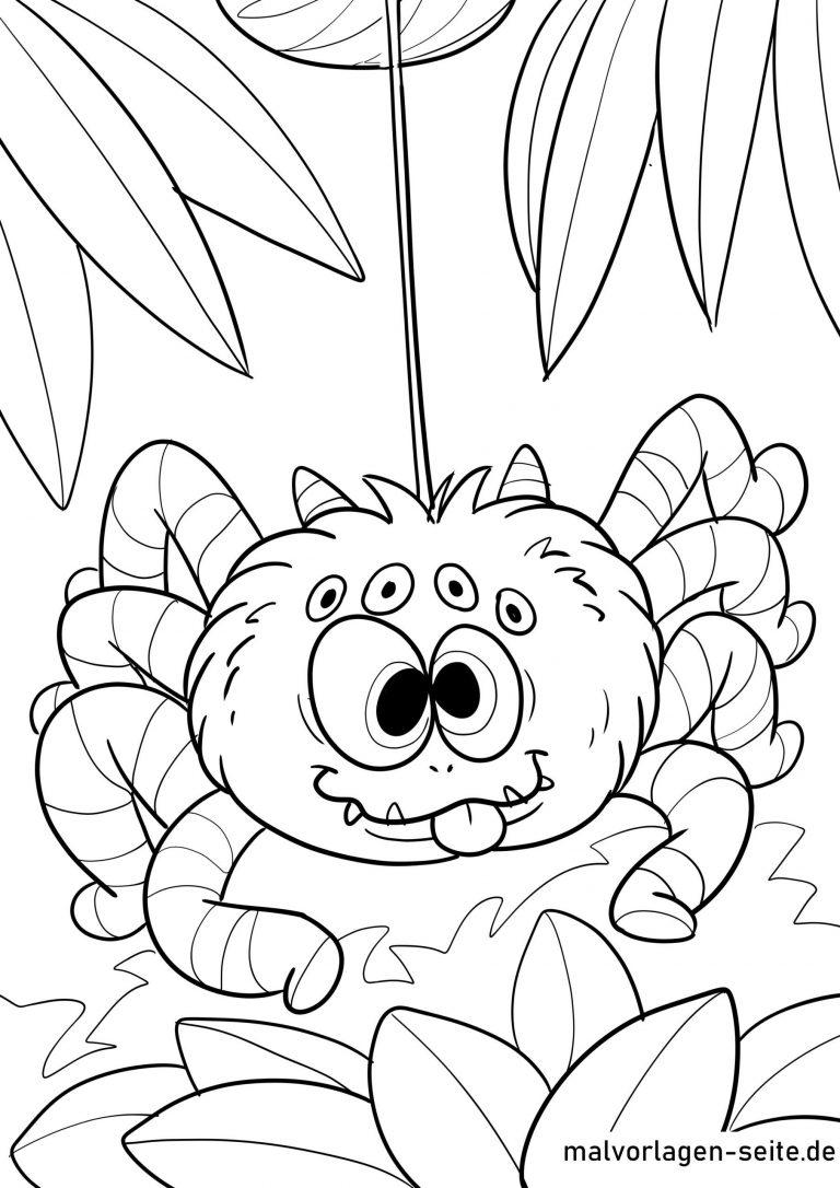 Ausmalbild Spinne - kinderbilderdownload kinderbilder