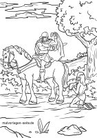 Ausmalbilder Sankt Martin Mit Pferd   kinderbilder ...