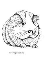 Ausmalbild Meerschweinchen   kinderbilder.download ...