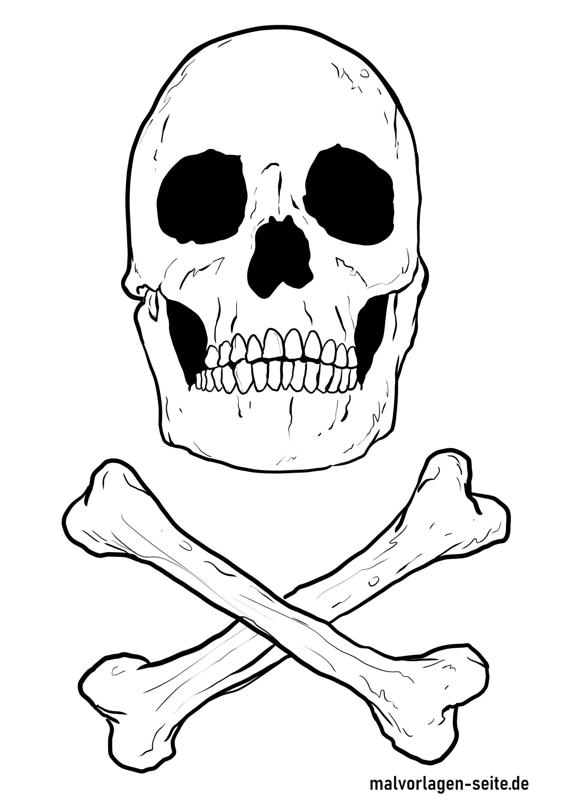 Totenkopf Zum Ausmalen - kinderbilderdownload