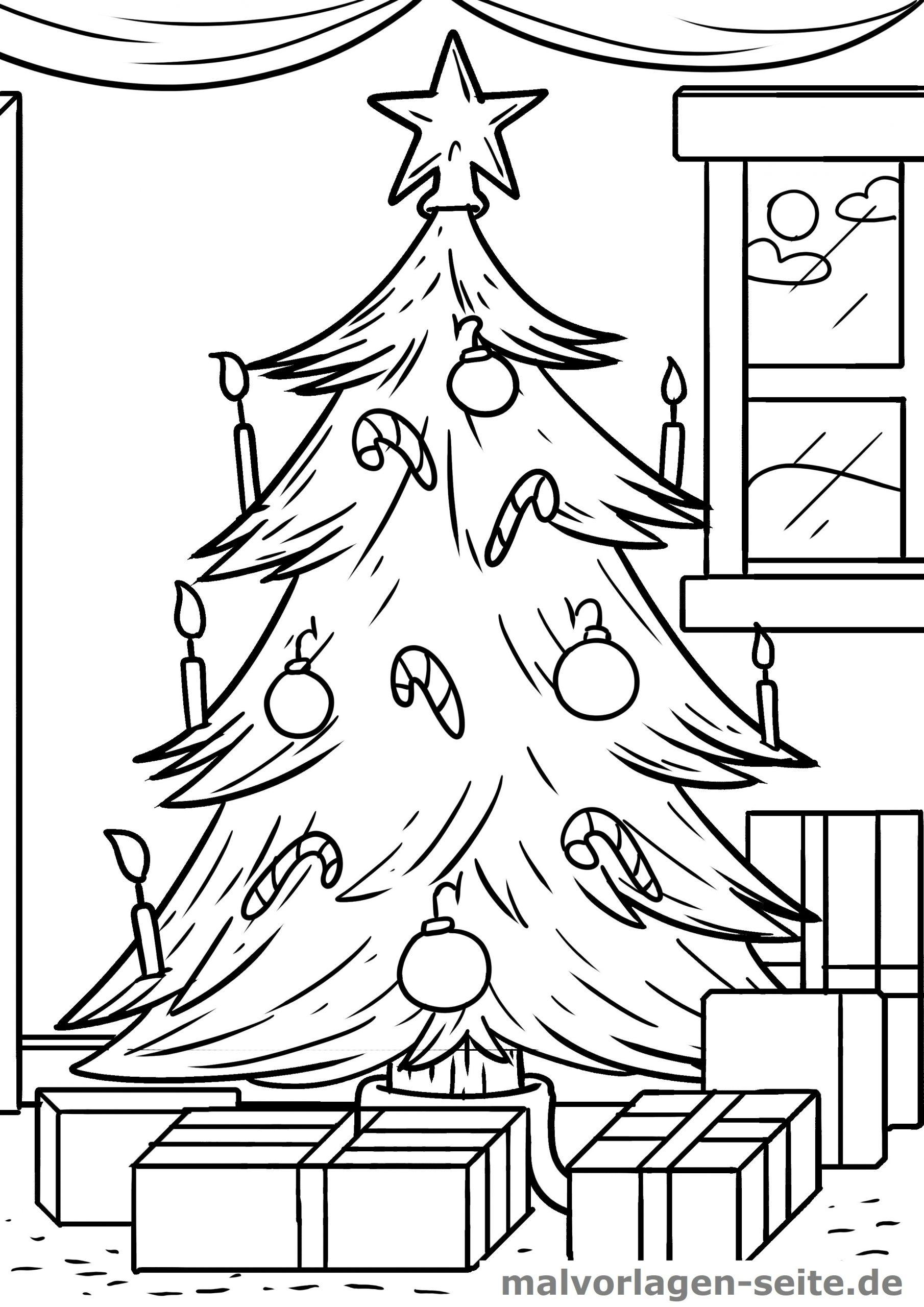 Malvorlage Weihnachten Weihnachtsbaum - Ausmalbilder für