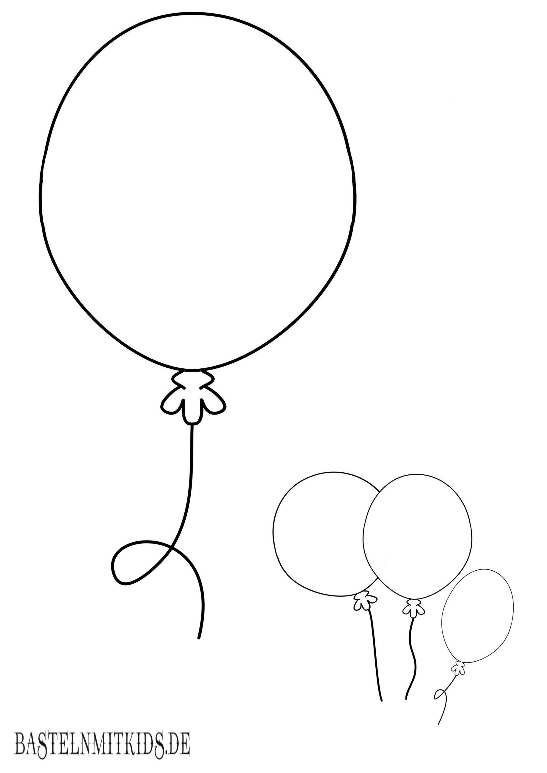 Luftballon Malvorlage - kinderbilderdownload