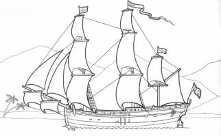 Malvorlage Piratenschiff   kinderbilder.download ...