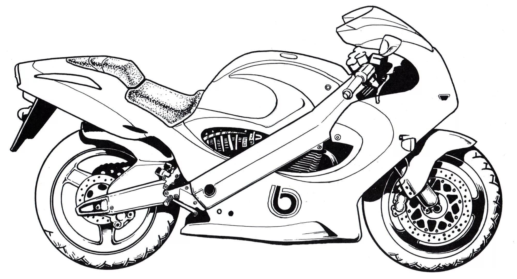 Motorrad Malvorlage - kinderbilderdownload kinderbilder