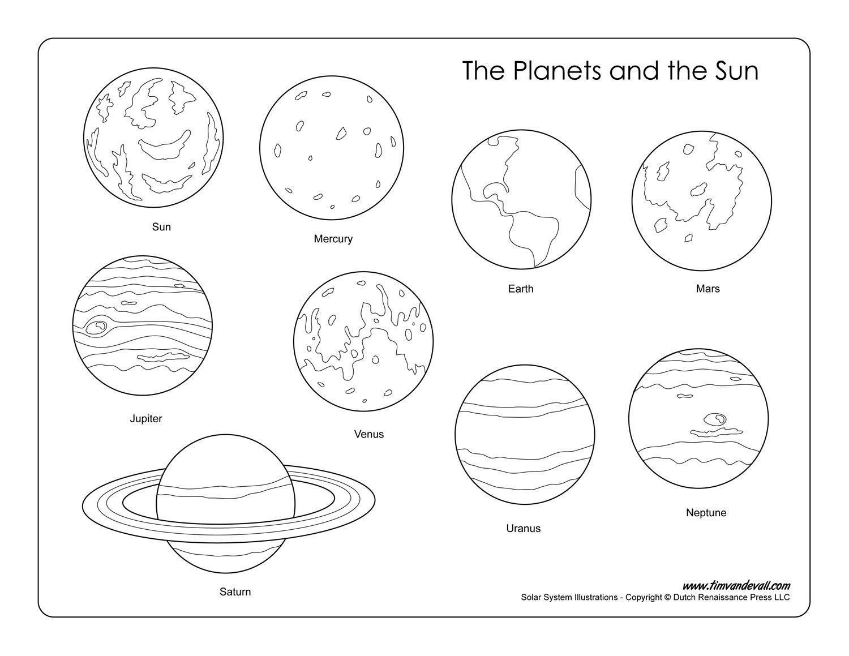 Planeten Bilder Zum Ausmalen - kinderbilderdownload