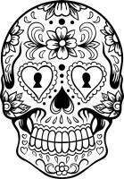 Malvorlage Totenkopf   kinderbilder.download ...