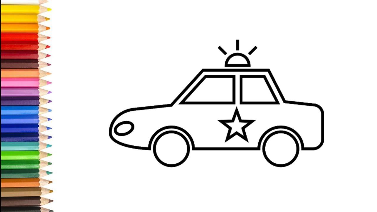 Polizeiauto Malen - kinderbilderdownload kinderbilder