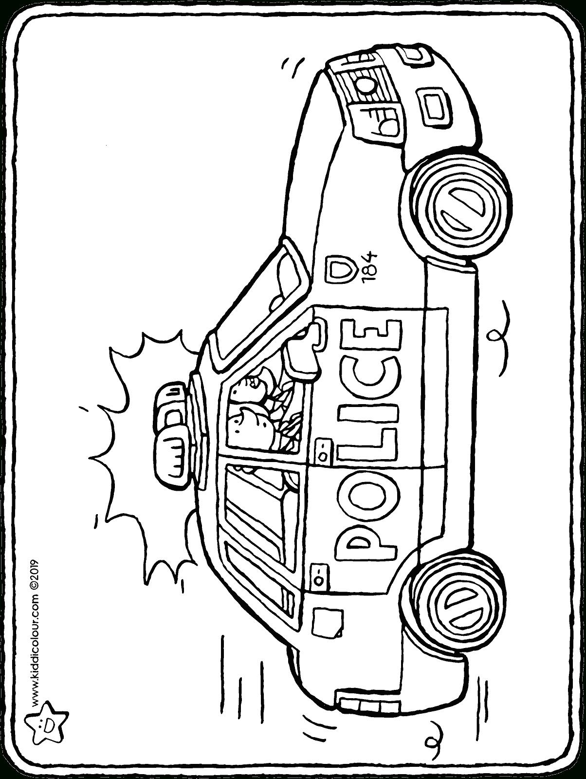 Polizeiauto Malvorlage - kinderbilderdownload