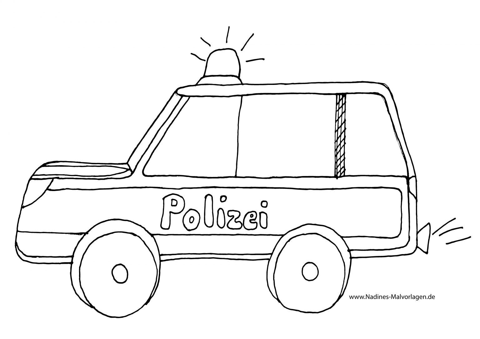 Polizeiauto Mit Blaulicht Ausmalbild 78 Malvorlage Polizei