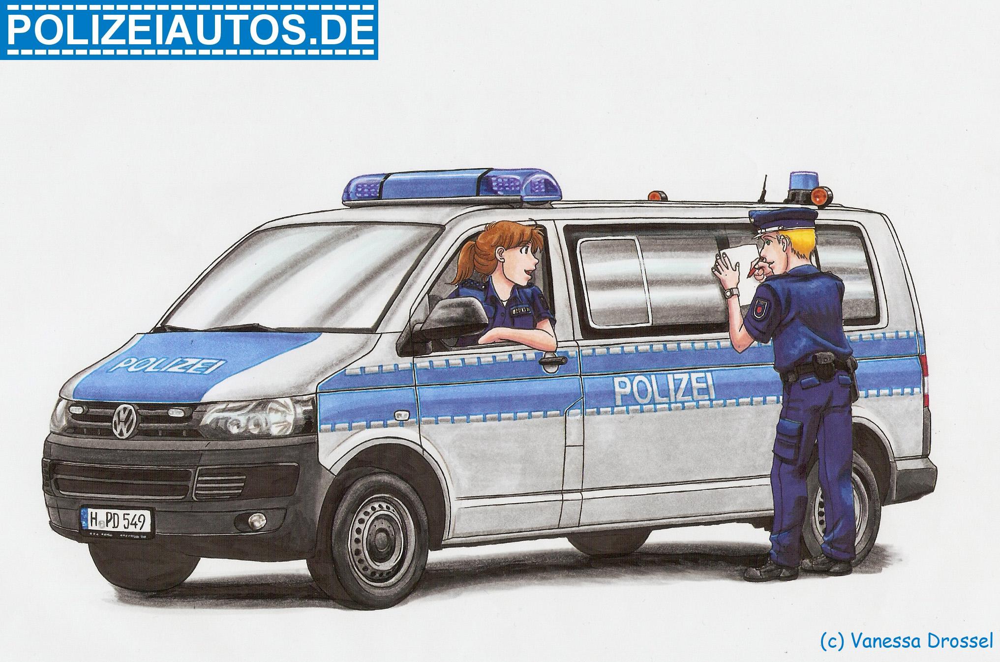 Polizeiauto Malvorlage