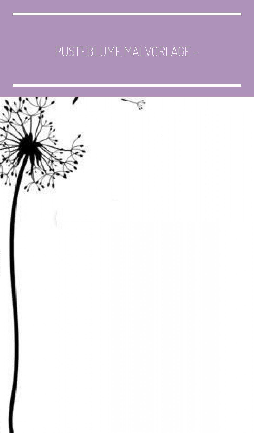Pusteblume Malvorlage - kinderbilderdownload
