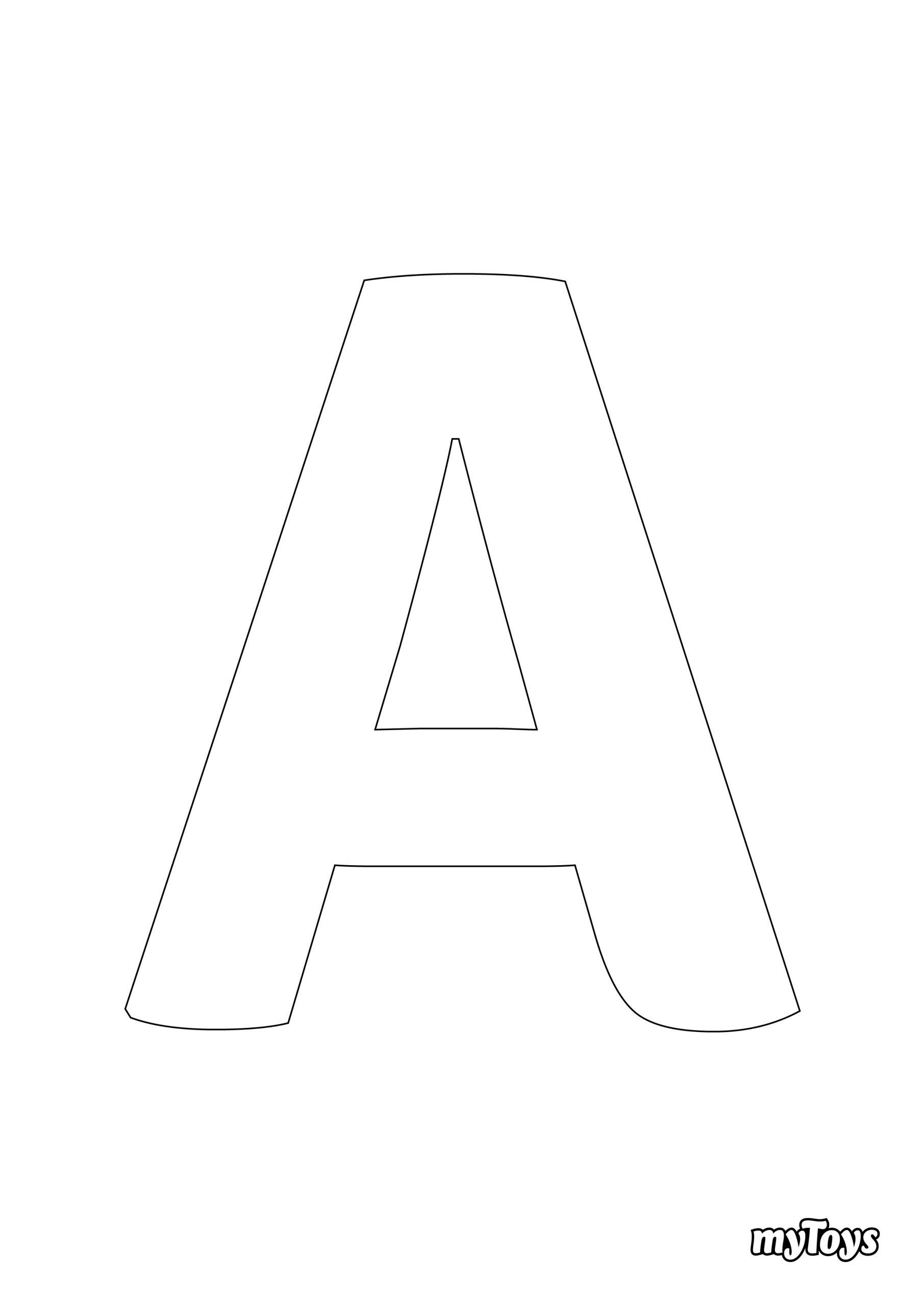 Spielerisch Lernen - Ausmalbilder Buchstaben bestimmt für