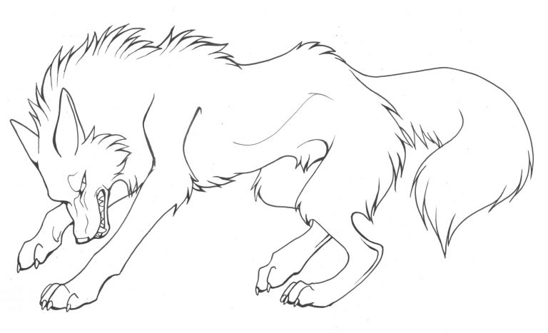 Wolf Lineart - Google Search (Mit Bildern) Malvorlagen