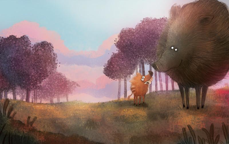 Borst vom Forst, Magellan Verlag, Yvonne Hergane und Wiebke Rauers, Kinderbuch Herbst, Kinderbuch Wildschwein