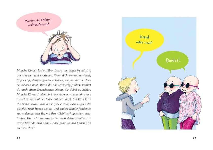 Kinderbuch über Krankheit Krebs, Kindern Krebs erklären