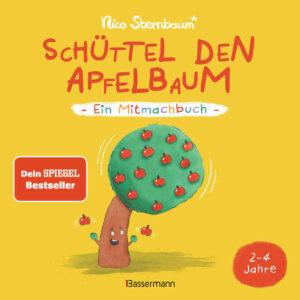 Mitmachbuch ab 2 Jahren, Mitmachbuch von Nico Sternabum, Mitmachbuch Schüttel den Apfelbaum