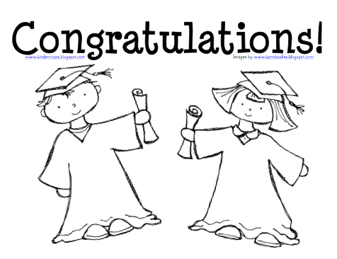 Kindergarten Graduation Preparation and Coloring Page FREEBIE!