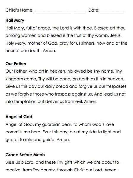 prayer assessment freebie